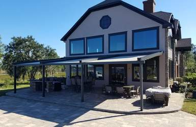 retractable residential motorized patio deck pergola roof cover