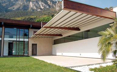 firenze retractable residential commercial patio deck attached pergola cover system