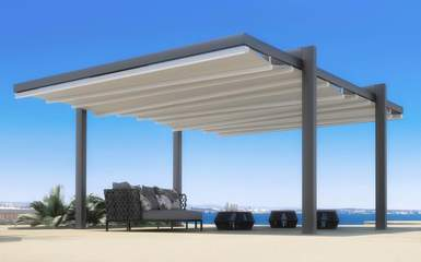 forli retractable free standing awning