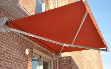 palermo model folding lateral arm motorized awning