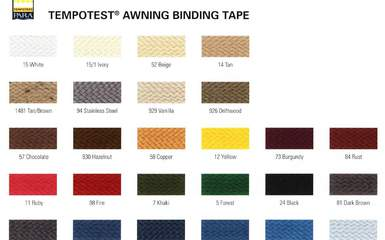 trim binding piping colors for folding lateral arm awnings