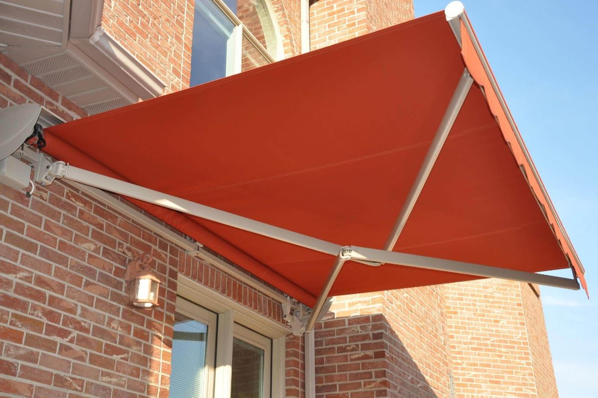 commercial cross arm lateral arm retractable awning