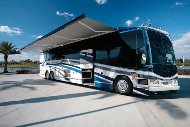 commercial full cassette retractable rv awning