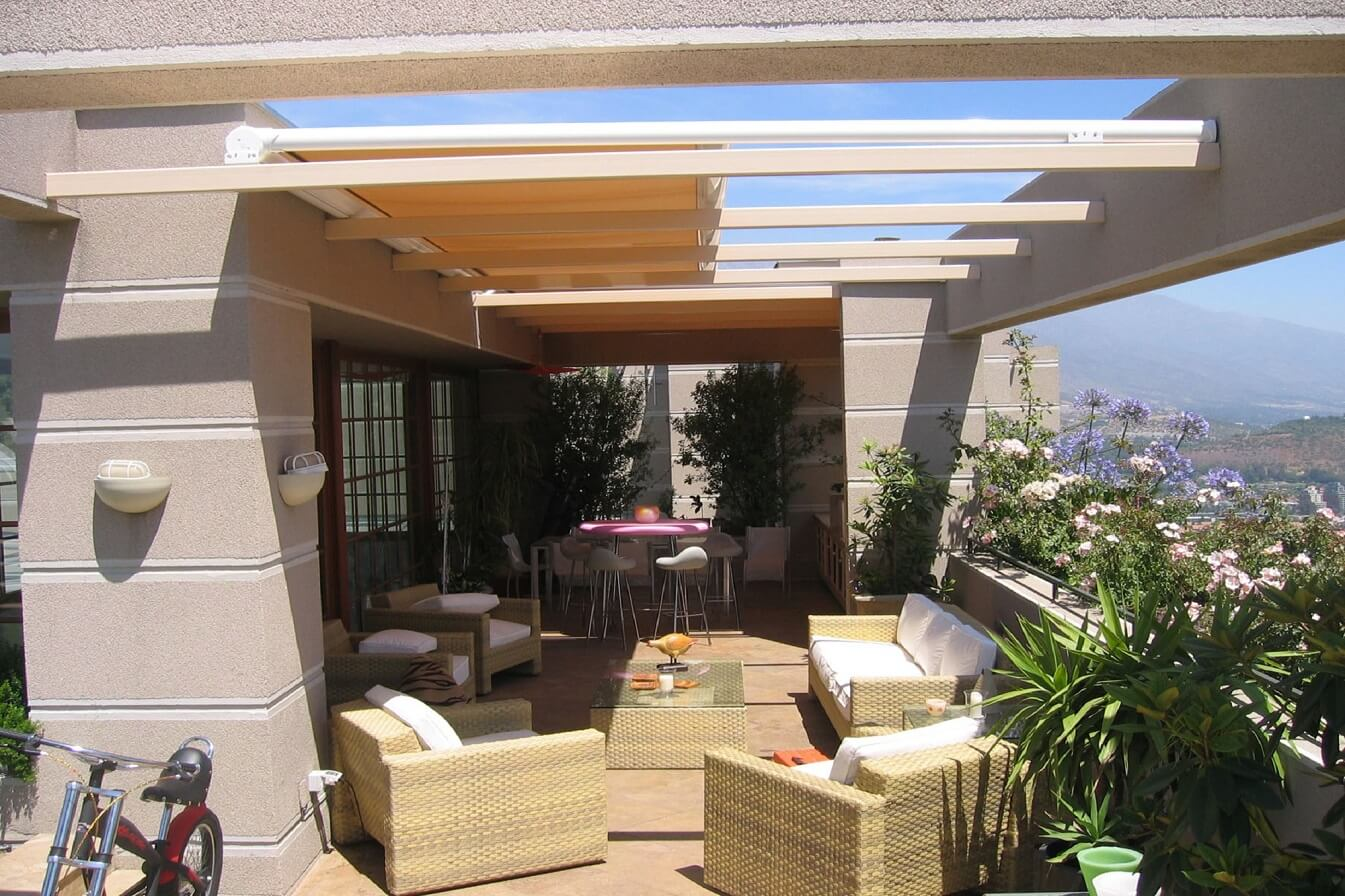 retractable motorized pergola cover
