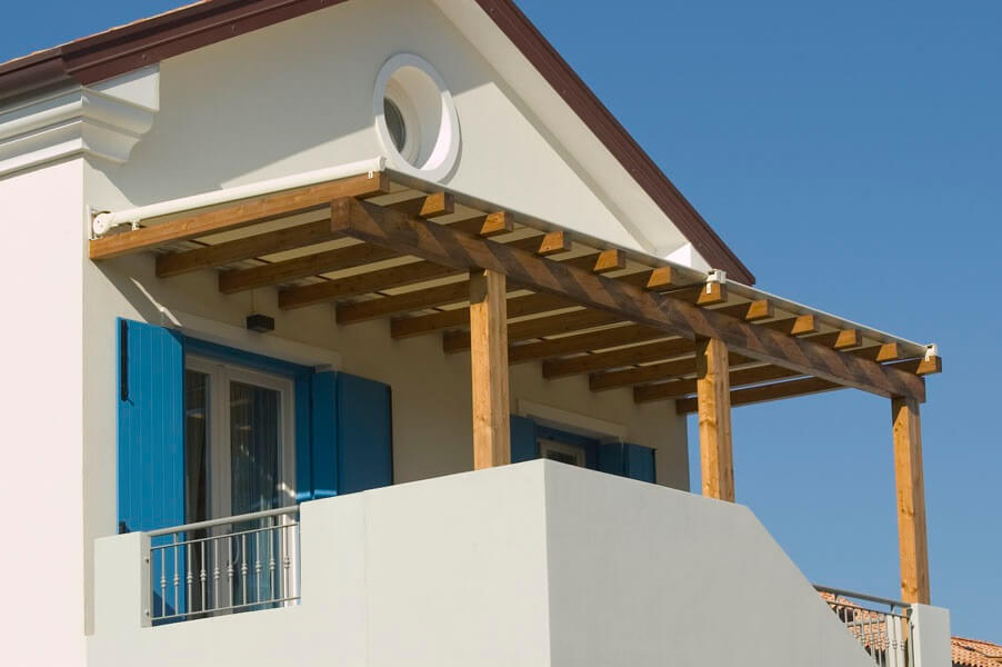retractable residential pergola cover