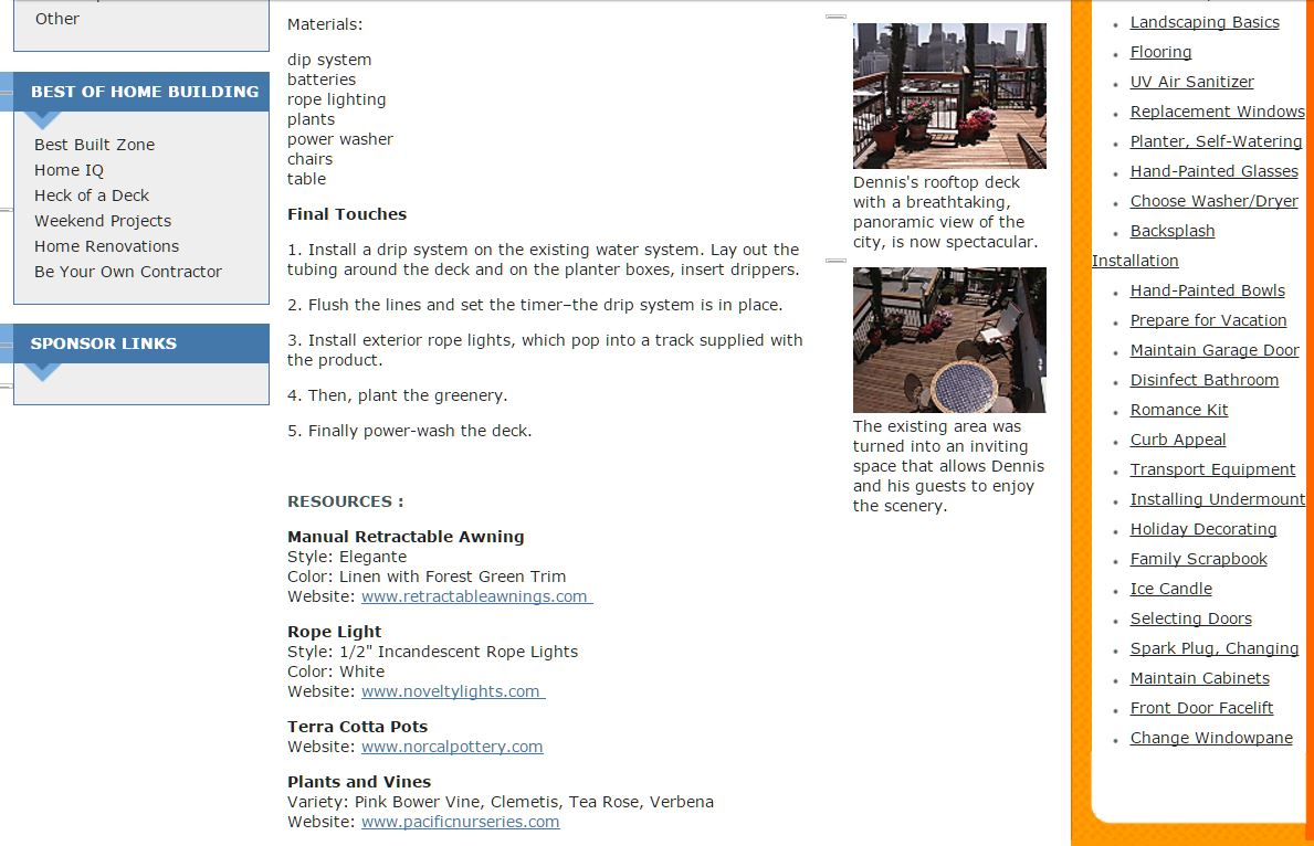 Media — Retractableawnings.com® DIY Network retractable ...