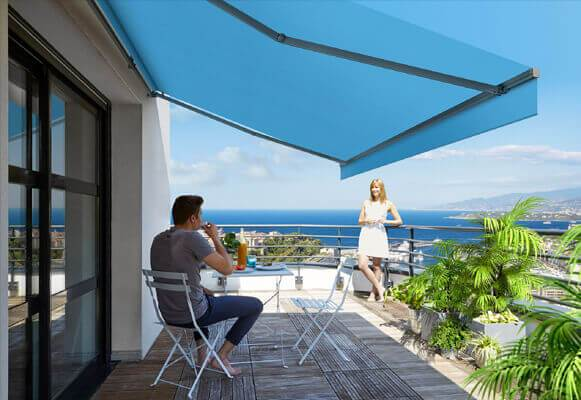 relaxing-under-retractable-awning-shade