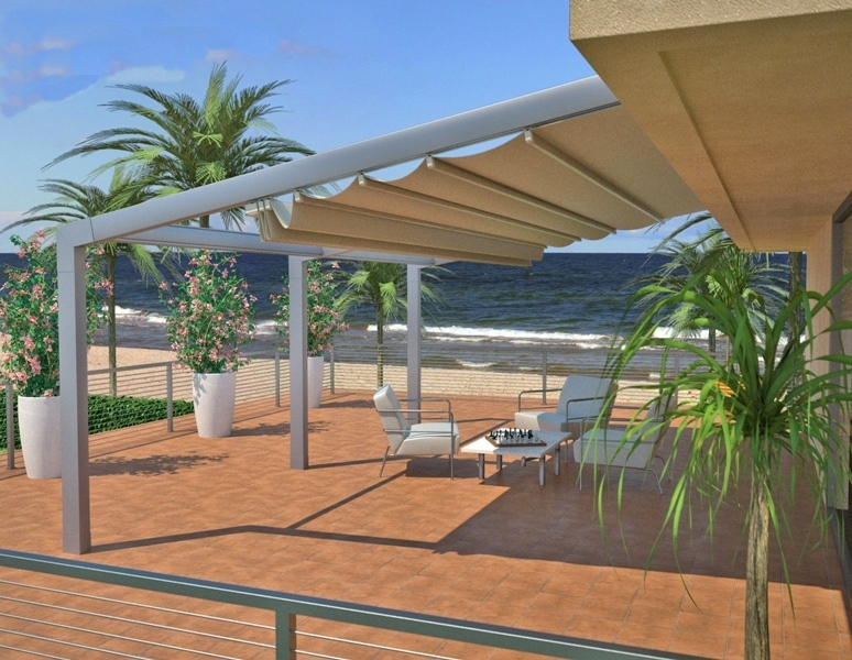 Retractable Patio Deck Pergola Cover