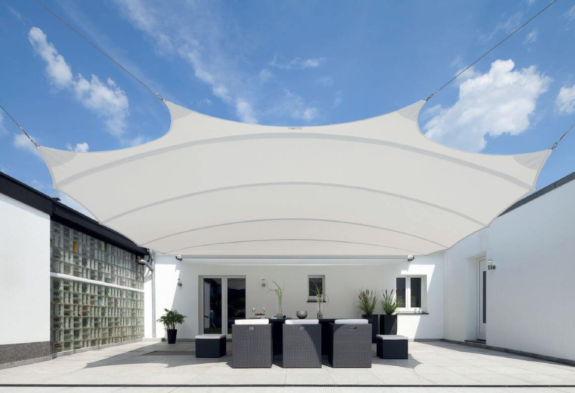 retractable shade sail patio cover ideas