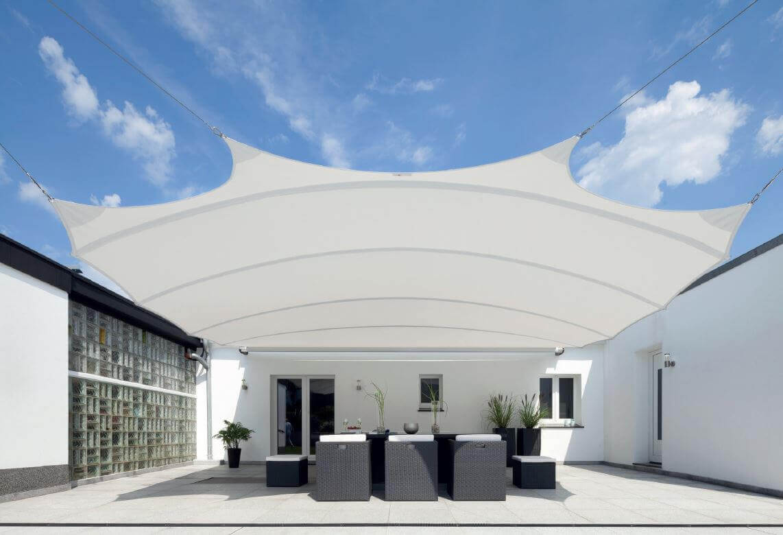 retractable shade sail patio cover