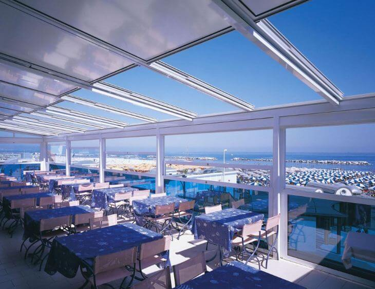 retractable-sliding-glass-polycarbonate-roof-system