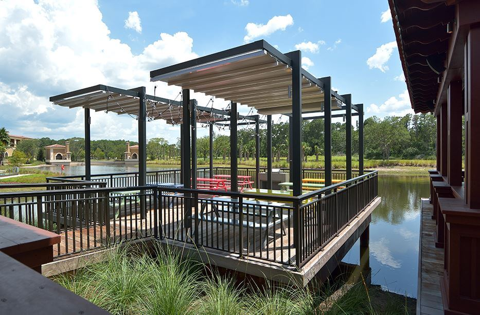 Retractable free standing patio deck pergola canopy system