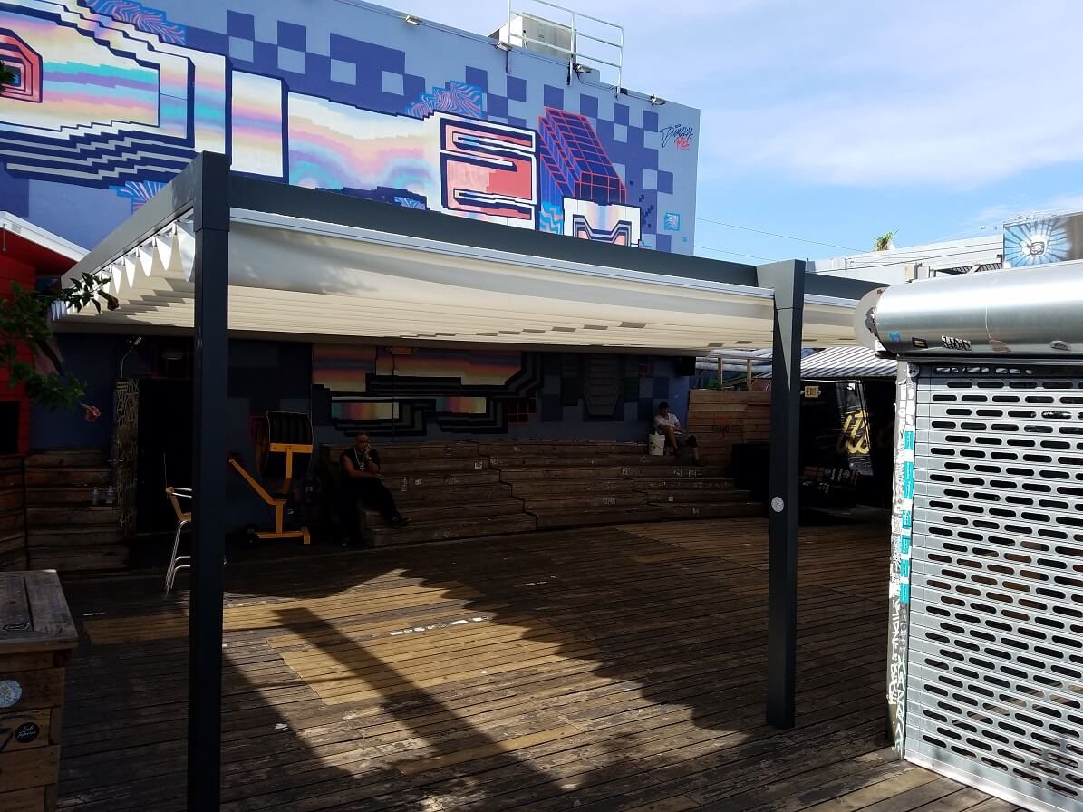 retractable attached waterproof restaurant patio pergola cover systems