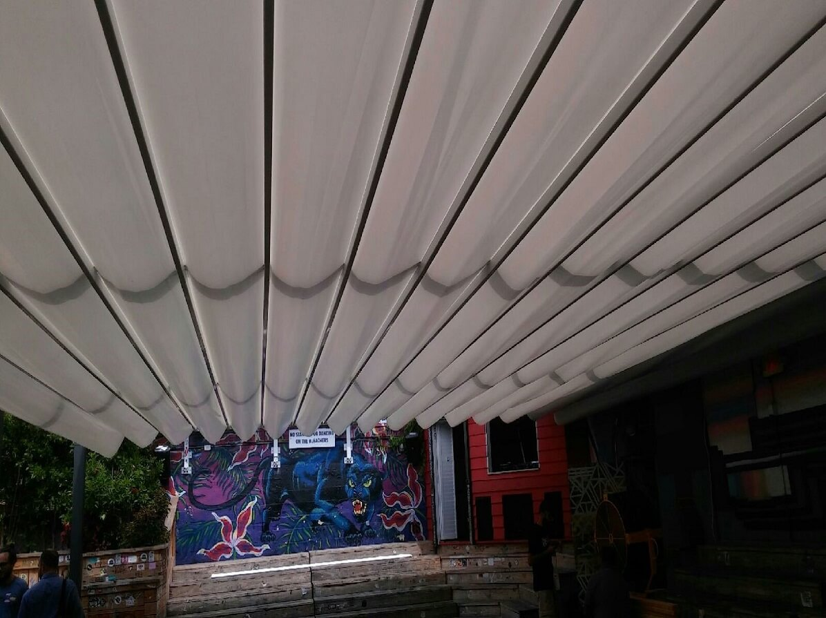 retractable attached waterproof tavern patio pergola cover systems