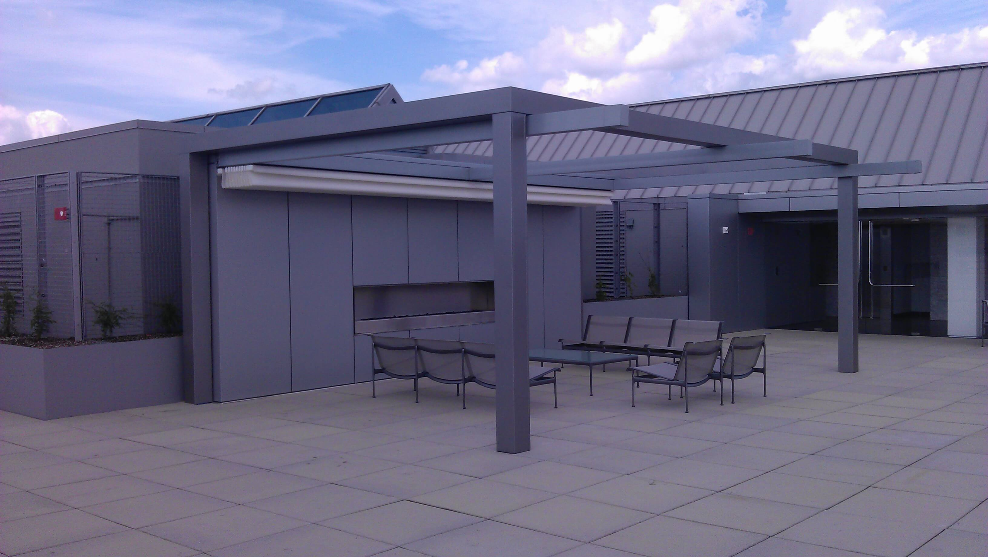 rimini retractable commercial grade patio deck cover pergola system