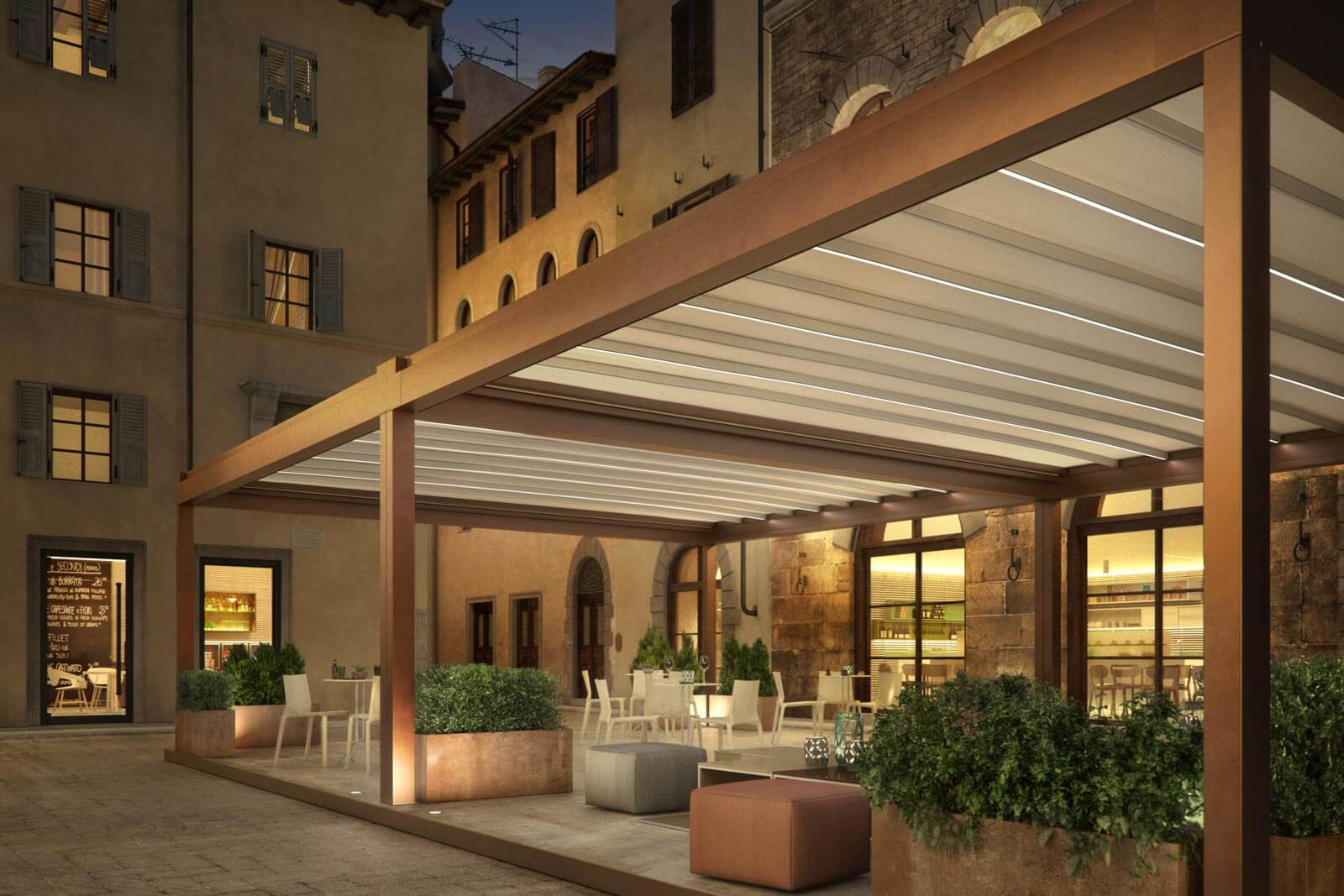 The Piacenza Pergola Cover Retractableawnings Com