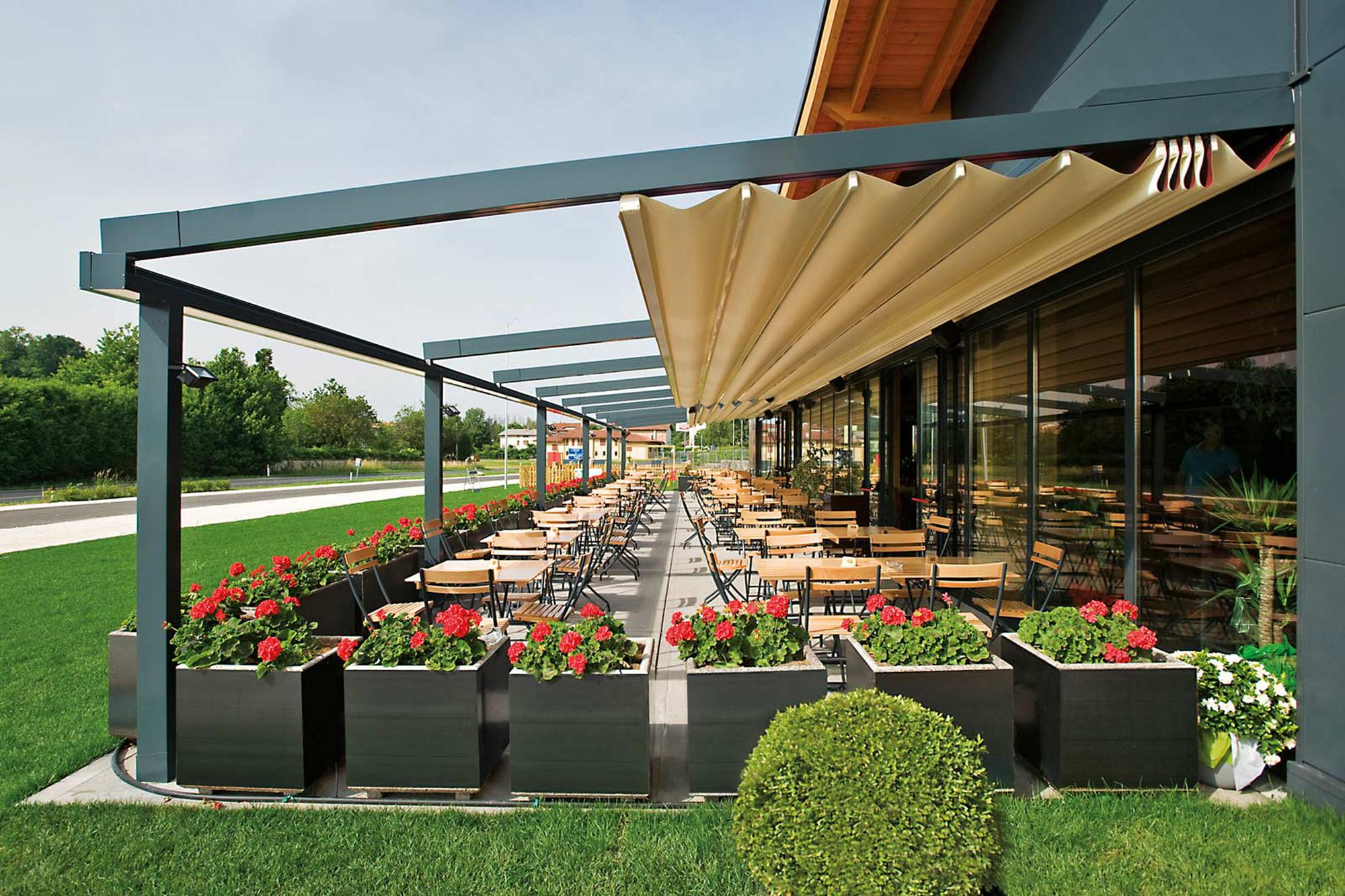 Retractable Deck Pergola Canopy |The Sassari Patio Cover