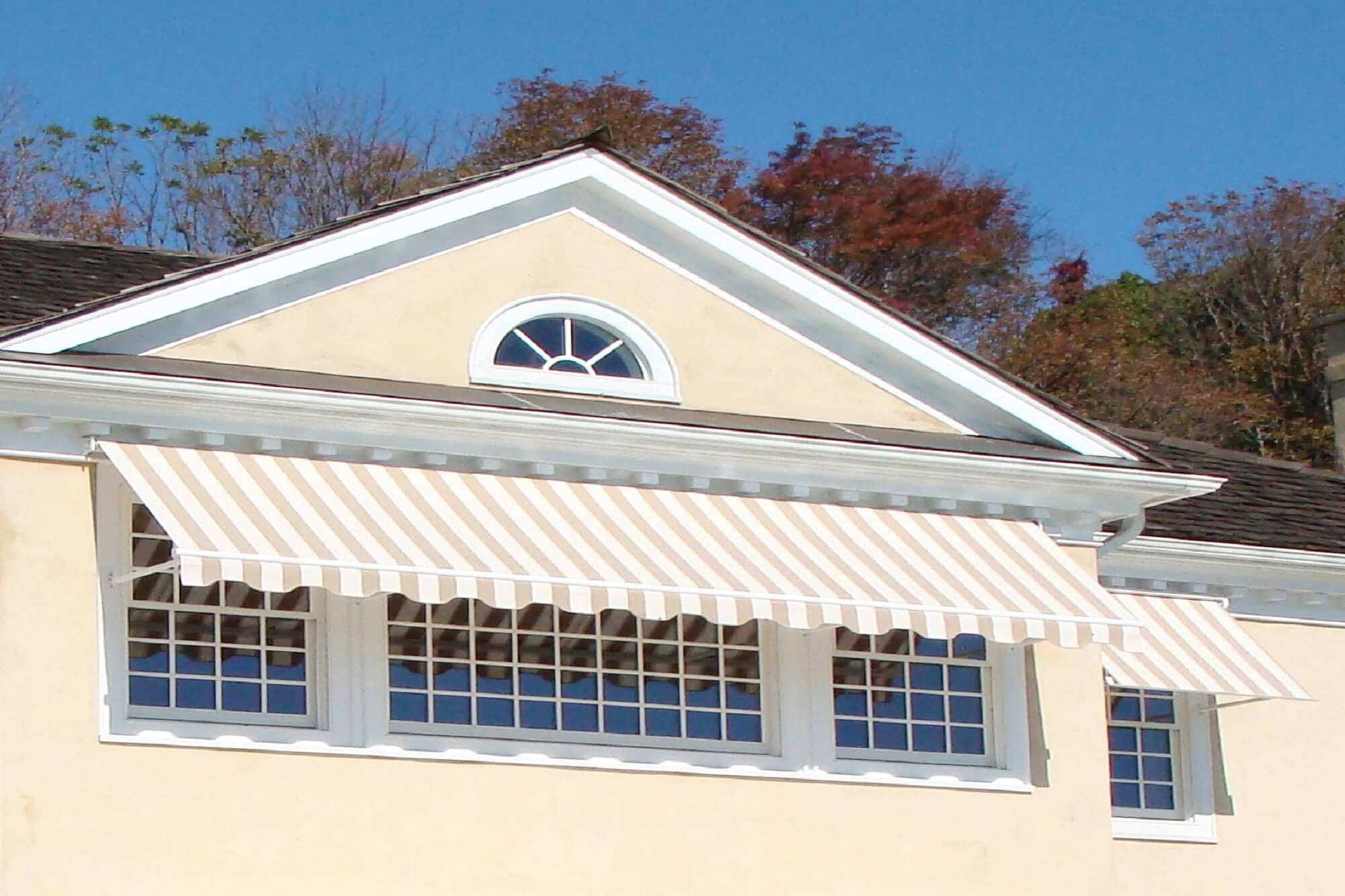 side arm drop arm house window awnings