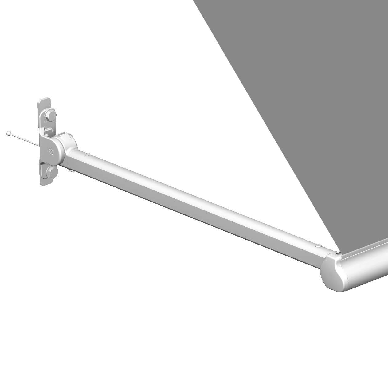 side arm retractable awning with drop arm
