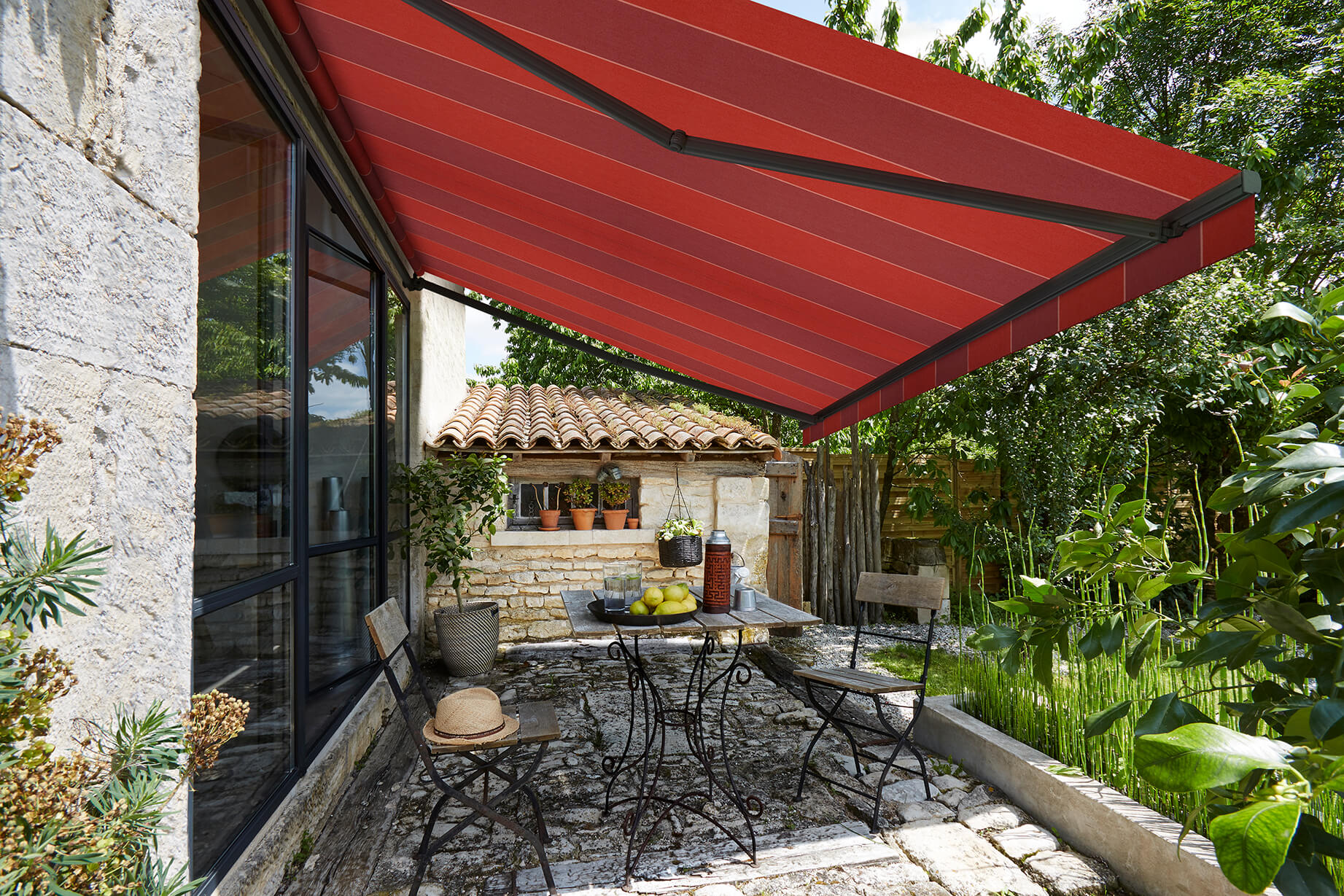 palermo plus retractable awning residential motorized folding lateral arm