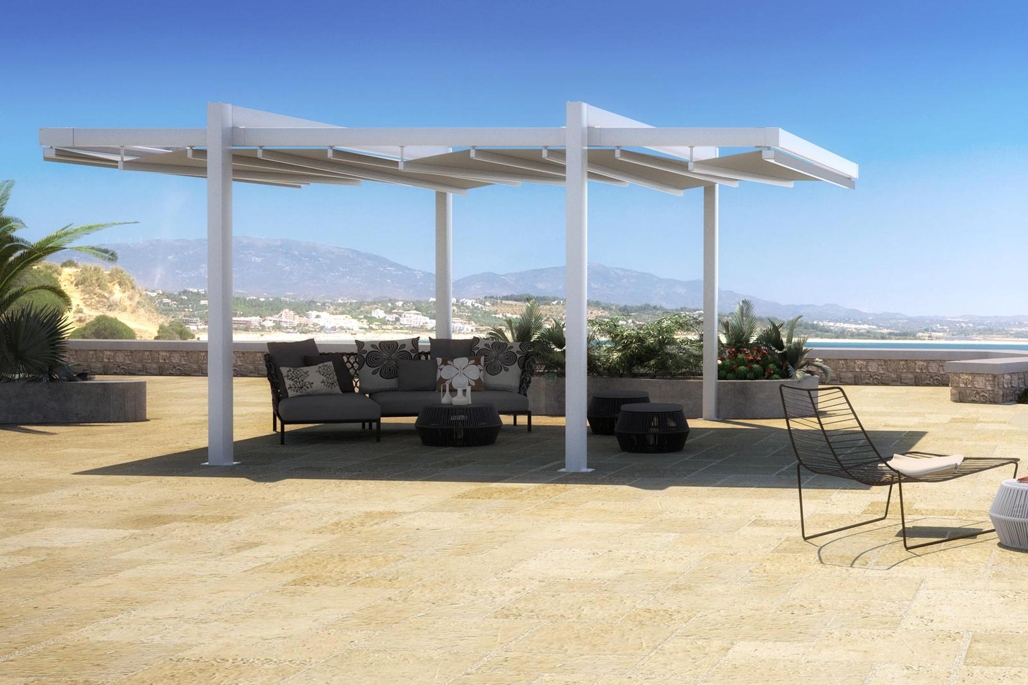 The forli free standing pergola cover for Freestanding patio cover