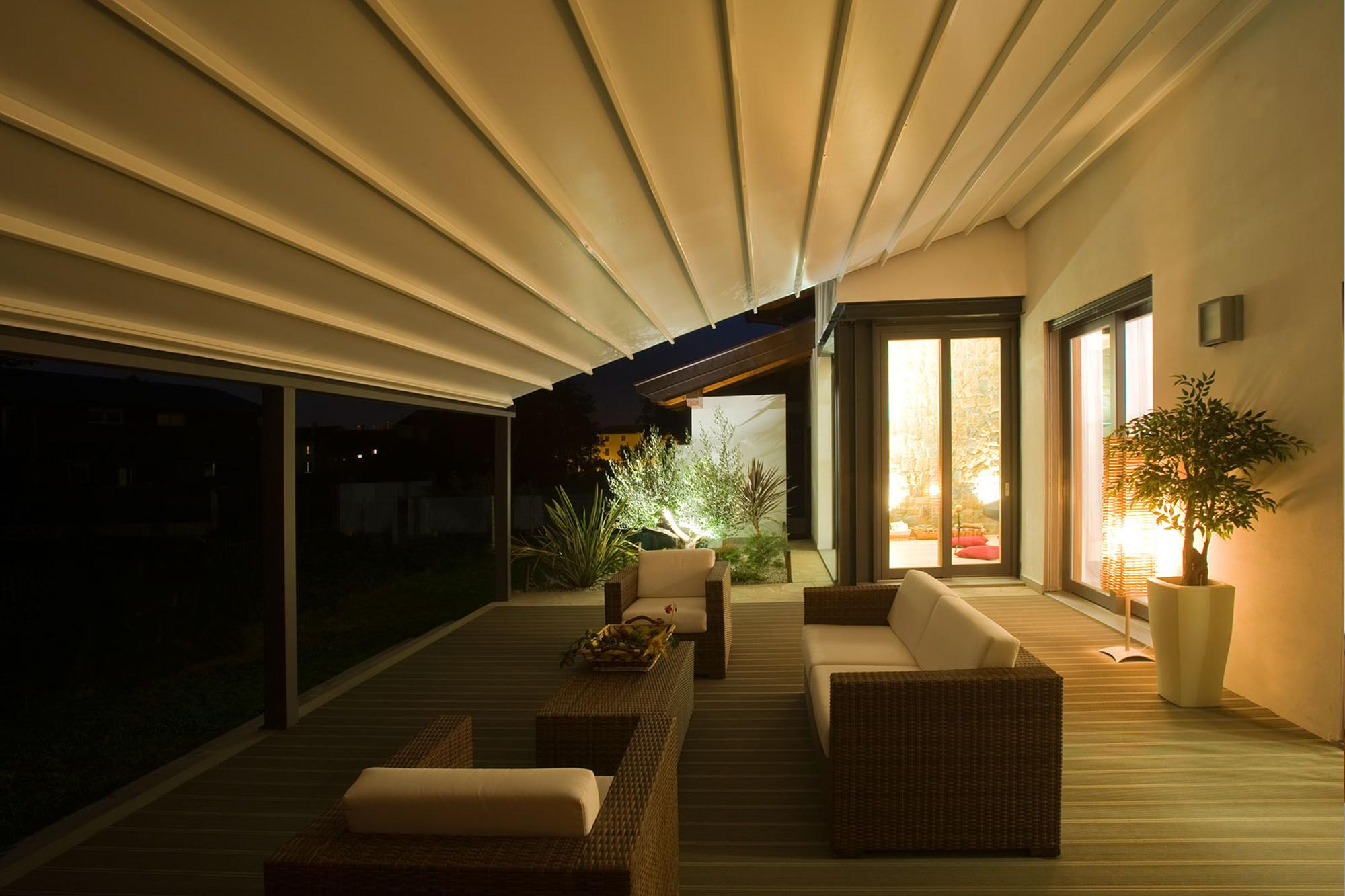 ferrara retractable residential commercial patio deck attached pergola cover system