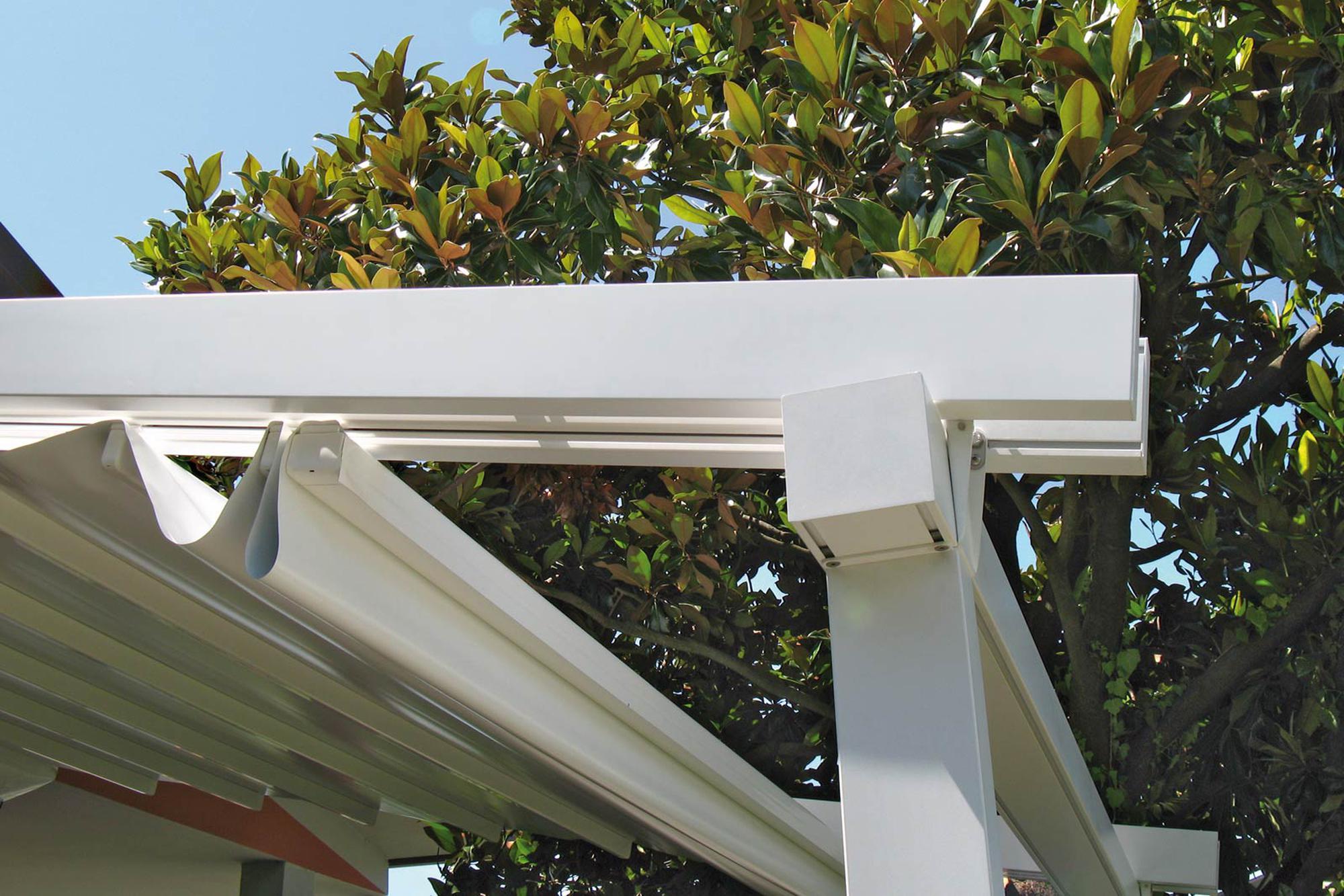 ferrara retractable residential commercial patio deck attached pergola cover system