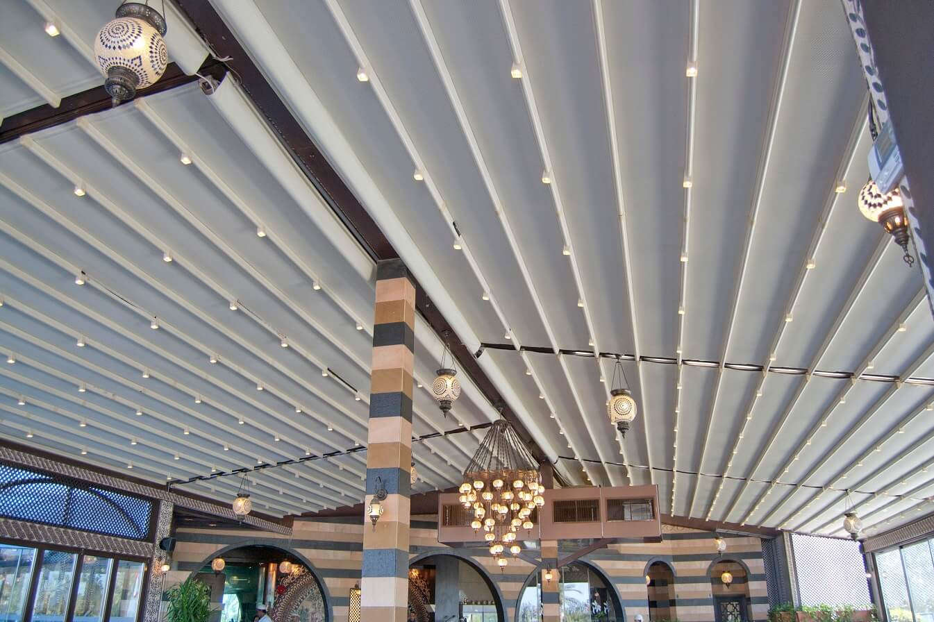 retractable restaurant free standing pergola roof covers