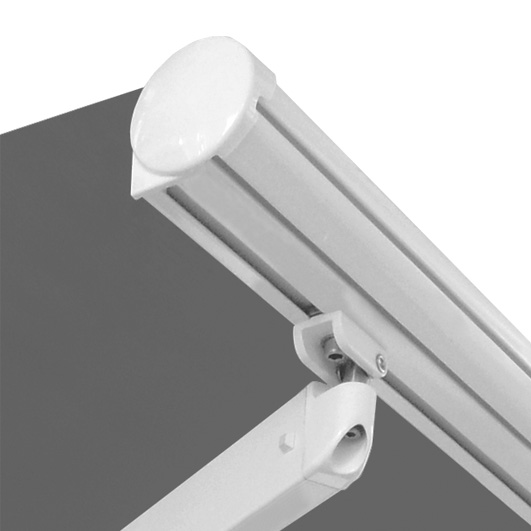 roma folding lateral arm retractable awning front bar arm connection fabric