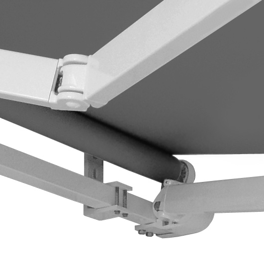 roma retractable awning folding lateral arms torsion bar bracket fabric