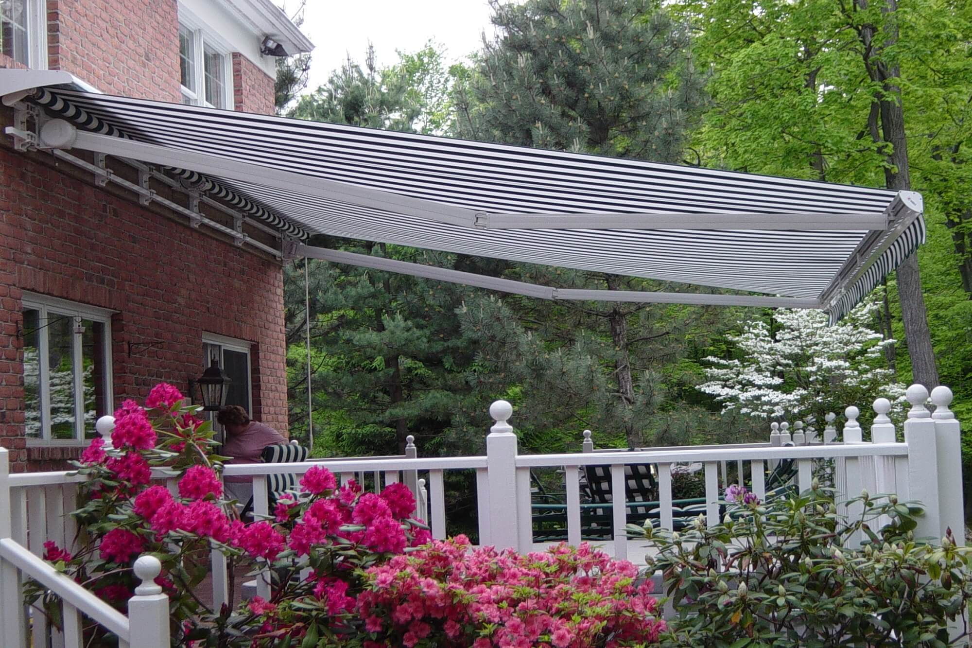 roma retractable awning motorized lateral arm retractable large projection