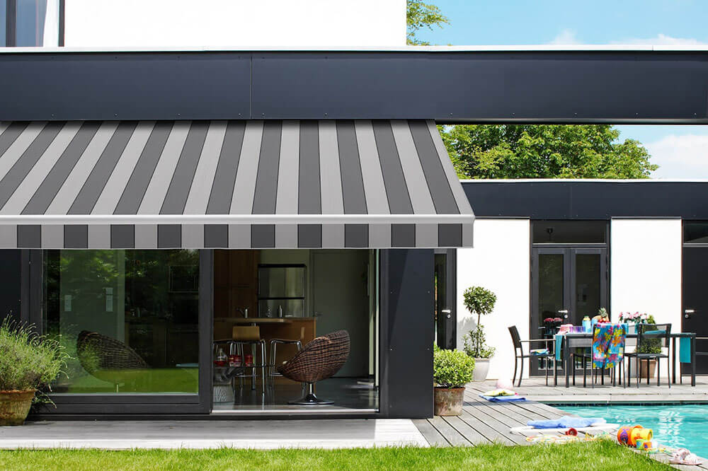 retractable folding lateral arm awning energy savings