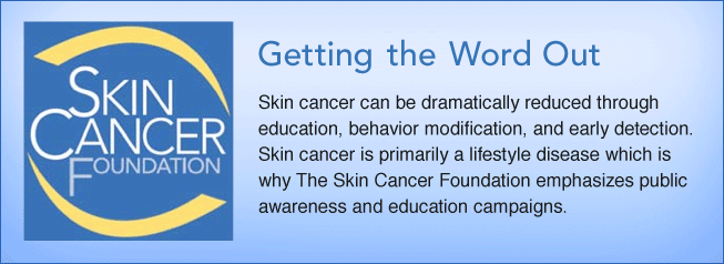 the skin cancer foundation getting the word out