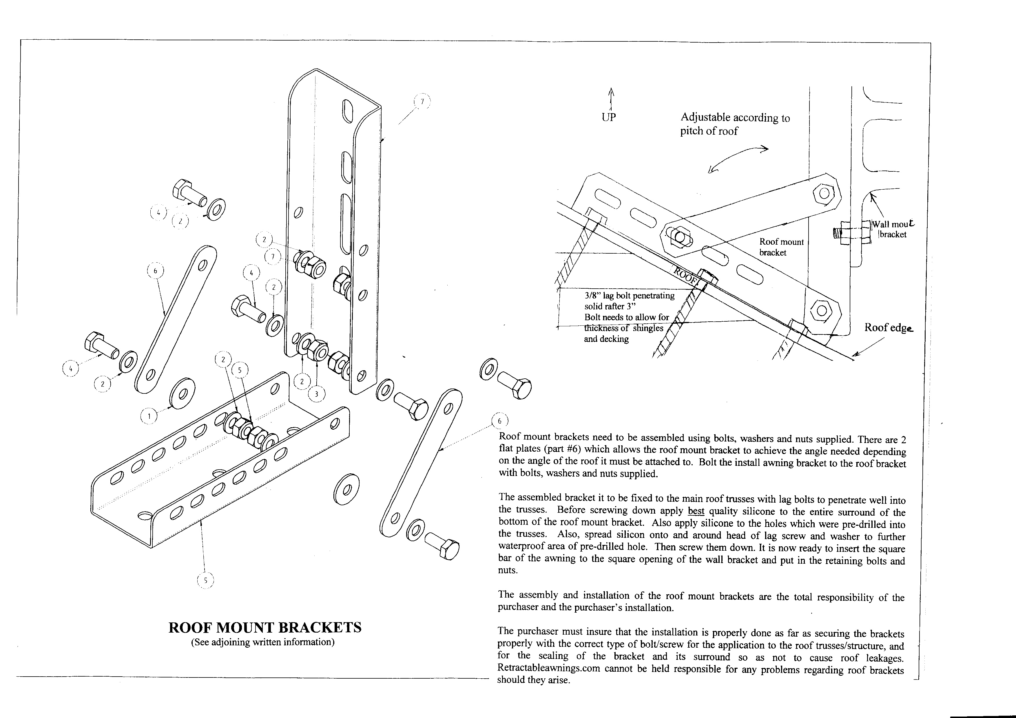 Roof Mount Bracket Assembly Instructions